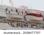 Safety Lifeboat On Deck Of...