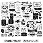 mega set of ornate frames and... | Shutterstock .eps vector #205849021