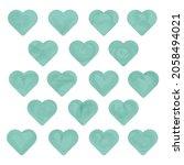 vector watercolor hearts. set... | Shutterstock .eps vector #2058494021