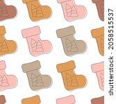 christmas socks seamless... | Shutterstock .eps vector #2058515537