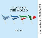 vector set of different flags... | Shutterstock .eps vector #205856524