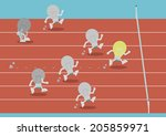 competition of lightbulb. the... | Shutterstock .eps vector #205859971