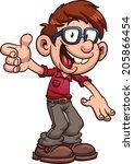 cartoon nerd or geek. vector...   Shutterstock .eps vector #205866454