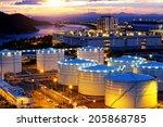 oil tanks at sunset   hongkong... | Shutterstock . vector #205868785