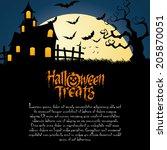 abstract happy halloween... | Shutterstock .eps vector #205870051