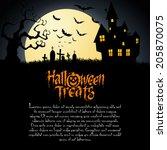 abstract happy halloween... | Shutterstock .eps vector #205870075