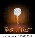 lollipop mummy walking inside a ... | Shutterstock .eps vector #2058757391