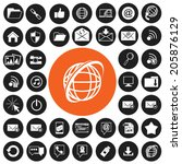 internet icons set | Shutterstock .eps vector #205876129