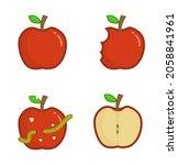 apple vector illustration icon. ...