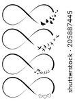 infinity symbols | Shutterstock .eps vector #205887445