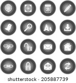 web and internet icons set  | Shutterstock .eps vector #205887739