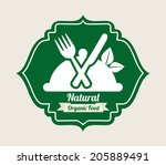 food design over gray ... | Shutterstock .eps vector #205889491