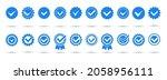 blue verivication badge.... | Shutterstock .eps vector #2058956111