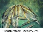 fresh trout struggling in a...   Shutterstock . vector #205897891