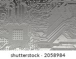 computer pcb board with details ... | Shutterstock . vector #2058984