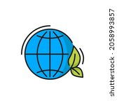 earth planet with clean... | Shutterstock .eps vector #2058993857