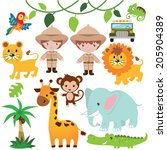 safari vector illustration | Shutterstock .eps vector #205904389