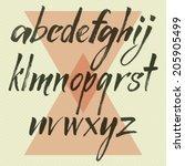 vector alphabet. hand drawn... | Shutterstock .eps vector #205905499