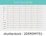 planner calendar for 2023 year... | Shutterstock .eps vector #2059099751