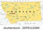 montana  mt  political map with ... | Shutterstock .eps vector #2059112084