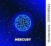 mercury planet neon icon design.... | Shutterstock .eps vector #2059148561