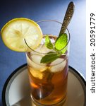 iced tea with mint and lemon | Shutterstock . vector #20591779