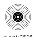 target with black and white... | Shutterstock .eps vector #205920337