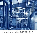 modern boiler room equipment... | Shutterstock . vector #205921915