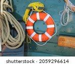 A Closeup Of A Lifebuoy Ring...