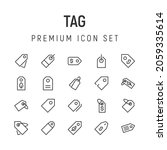 premium pack of tag line icons. ...