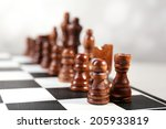 chess board with chess pieces... | Shutterstock . vector #205933819