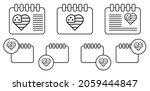 usa flag  heart vector icon in...