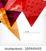 modern 3d glossy overlapping...   Shutterstock .eps vector #205945435