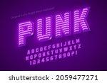 neon light 3d alphabet  retro...   Shutterstock .eps vector #2059477271