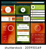 ui set of flat web design...