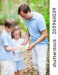 family of father and little... | Shutterstock . vector #205960039