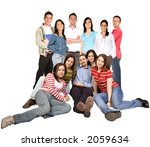 friends on the floor and... | Shutterstock . vector #2059634