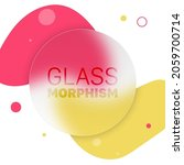 vector glass morphism style....