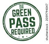green pass required grunge... | Shutterstock .eps vector #2059794047