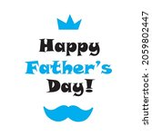 happy father's day. lettering... | Shutterstock .eps vector #2059802447