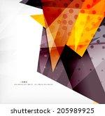 modern 3d glossy overlapping...   Shutterstock . vector #205989925