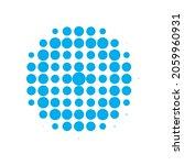 blue halftone modern. vector... | Shutterstock .eps vector #2059960931