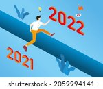 young man run and jump from... | Shutterstock .eps vector #2059994141