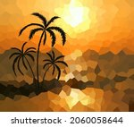 abstract background of a palm... | Shutterstock .eps vector #2060058644