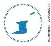 trinidad and tobago sticker.... | Shutterstock .eps vector #2060080274