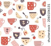 tea party seamless pattern with ...   Shutterstock .eps vector #2060106131