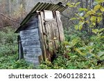 Abandoned Wooden Outdoor Loo ...