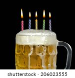 Birthday Candles In Mug Of Col...