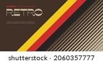 retro minimal background with... | Shutterstock .eps vector #2060357777