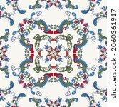 rosemaling tile  traditional... | Shutterstock .eps vector #2060361917